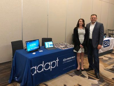 Troy and Megan demonstrating Adapt at Crestron CTP Summit